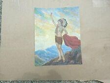 Vintage Indian Maiden art print Titled Nadi artist signed F.R.Harper
