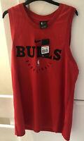 NIKE MEN'S BULLS NBA  RED VEST TOP SLEEVELESS  BASKETBALL  BQ4883 657 LARGE