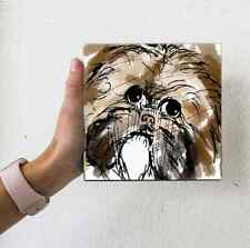 Shih Tzu Dog Water Color Look Puppy Small Artwork Illustration Fun Art 4x4 Art