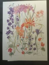FINE ART LITHOGRAPH: Iris And Lilly, Emma Lou Martin Pencil Signed And Numbered