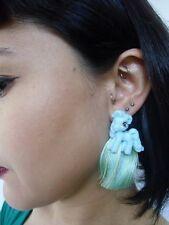 Boucles d'oreilles originales petit poney bleu cartoon cute kawaii plastique