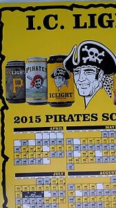 3 MLB Pittsburgh Pirates Iron Beer Can Bottom Opened Jolly Roger 2015 &  Poster
