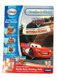 Brand New Disney vtech Create-A-Story Cars Kids Builds Early Reading Skills Book
