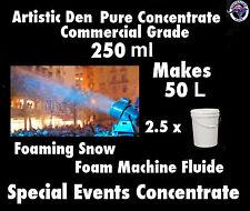 SNOW MACHINE FLUID 250ml Concentrate Makes 50 Litres Foam Machine Fluid
