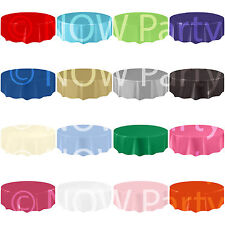 ROUND Plastic TABLECOVERS AMSCAN Table Cloth Cover Catering Events 19 COLOURS
