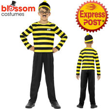 CK1006 Boys Odlaw Where's Wally Yellow Waldo Cartoon Costume Book Week Outfit