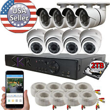 Sikker Standalone 8 CH Channel 4MP 1440P DVR 4 Megapixel Camera Security System