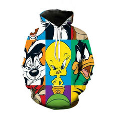 New 3D Print Cartoon Looney Duck Harajuku Women Men Hoodies Pullover Sweatshirts