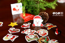 1 box 48 PCS Santa Claus merry Christmas and happy New Year gift diary stickers