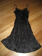 LADIES CUTE BLACK SILK/ POLYESTER BEADED SLEEVELESS DRESS BY SUNNY GIRL SIZE 8