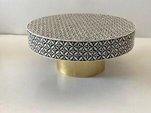 Handmade Bone Inlay Wooden Modern Floral Pattern Coffee Table, bone inlay table