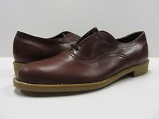 NOS Mason Shoe All Brown Casual Dress Hipster Shoes 10 D VTG Brown Leather
