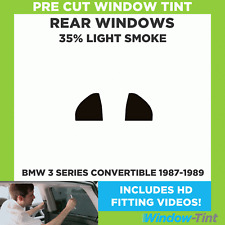 Pre Cut Window Tint - BMW 3 Series Convertible 1987-1989 - 35% Light Rear
