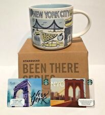 Starbucks NYC Coffee Mug Cup Been There Series Statue Of Liberty Cab 2 Bonus