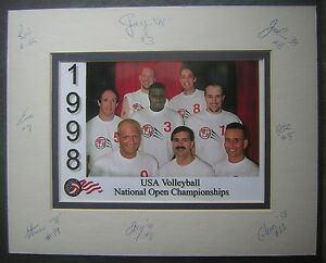 1998 USA Volleyball National Open Championships Team Color Photo
