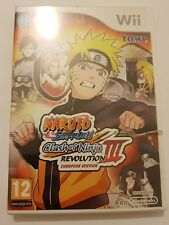 Naruto Shipudden Clash of Ninja REVOLUTION 3 / III  EUROPEAN VERSION Wii NUEVO