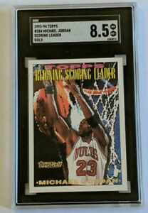 1993-94 Topps Gold Michael Jordan #384 Scoring Leader SGC 8.5 LN