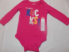 "Okie Dokie ""Mom Rocks"" Bodysuit - Size 18M"