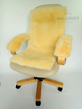 Genuine Super Soft Medical Sheepskin Seat & back Cushion and Armrest cover kit