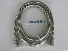 "FLEXIBLE SHOWER HOSE POLISHED CHROME ALL METAL 60"" LONG"