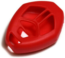 Red Key Fob Cover Jacket Silicon Pouch Bag fits Mitsubishi