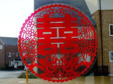 4 30cm chino Pájaro Rojo Feliz Pegatina De Corte De Papel Fiesta de Cumpleaños Bodas Año Nuevo