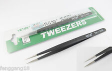 Vetus Pro ESD Safe Fine Tip Straight Tweezers Non-magnetic Anti Static TS-11 ESD