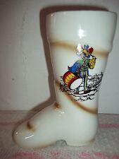 Porzellanstiefel mit Spruch-Bild-Tracht-Stiefel Porzellan Gräfenthal GDR Stempel