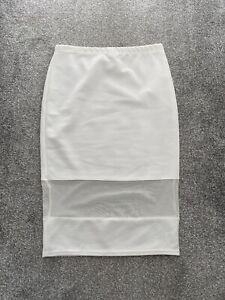 Bodycon White Skirt Size 12