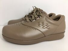 Women's SAS Free Time Shoes Sneakers Size 8 WW Beige Leather Casual Made USA