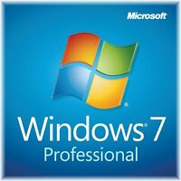 Windows 7 Professional 32 Bit or 64 bit Full Version SP1 w/ COA