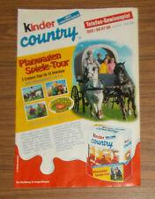 Seltene Werbung Ferrero Kinder Country Panorama Park Planwagen Promo 1999
