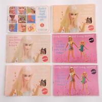 6 Vintage Barbie Mattel Booklets 1968-1970 Barbies World Living Barbie & Skipper