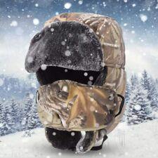 Mens Unisex Winter Thicken Camo Warm Windproof Earmuff Hat Adjustable Cap