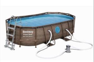 Bestway Power Steel Rattan Vista pool 427x250x100cm (7,250 l)