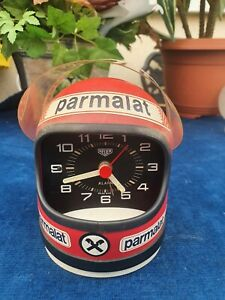 Beau et rare casque réveil HEUER ancien Niki Lauda Marlboro / Année 70 / Vintage