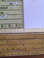 Vintage Wooden Slide Ruler And Plastic Protractor