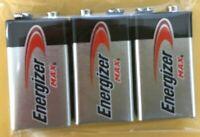 Energizer Max 9V 9 Volt 522 Alkaline Batteries Bulk 3 pk (new) EXP.12/2024