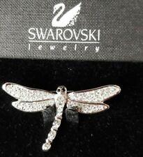 New On Card Dragonfly Silver Metal /& Clear Crystal 6cmx4.5cm Brooch