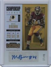 2017 Panini Contenders Championship Ticket Autograph #299 Mack Brown 27/49