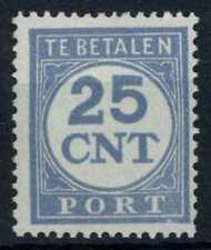 Netherlands 1925-1929 SG#D305, 25c Pale Ultramarine Postage Due MH #E84825