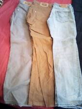 New listing 3 Levi's boys lot sz 14 regular denim, khaki, & grey waist 27 length 27 taper