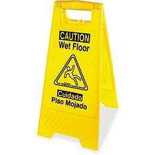 Impact Wet Floor Sign English/Spanish Yellow/Black 9152W