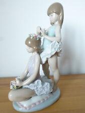 Lladro, Daisa, 'First Ballet', #5714, Ballerina Dancer Girls/ Flowers Porcelain