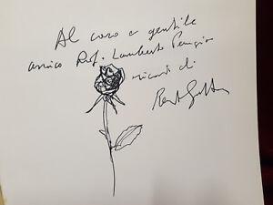 DISEGNO CON DEDICA AUTOGRAFATA - RENATO GUTTUSO - Libro Guttuso Sansoni 1982