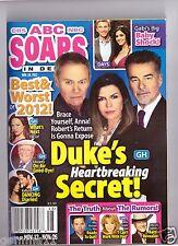 ABC SOAPS IN DEPTH GENERAL HOSPITAL GH DUKE'S SECRET NOVEMBER 2012