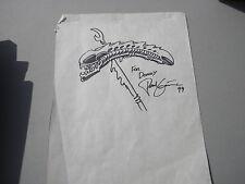 Alien Head on Predator Spear Sketch 1994 Black Ink Signed Paul Gi.... DH Comics