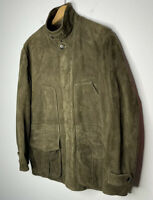 Polo Ralph Lauren XL Brown Green Suede Leather Jacket RRL VTG Hunting Coat Rugby