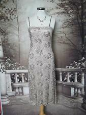 PHASE EIGHT Dress 12 Beads&Sequins Beige Lace Evening/Gatsby/Downton Flapper?