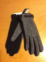 $42 Lauren Ralph Lauren Gloves Cashmere Blend Black Gloves Size Large 51KK